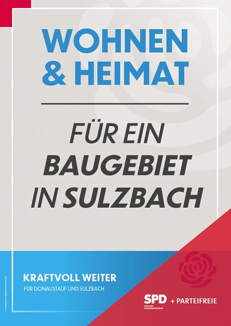 2020-02-05 Plakat Baugebiet Sulzbach